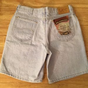 LEE Relaxed Fit Jean Shorts New Old Stock USA VTG